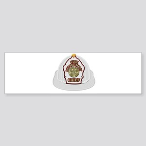 Traditional Fire Department Chief H Bumper Sticker